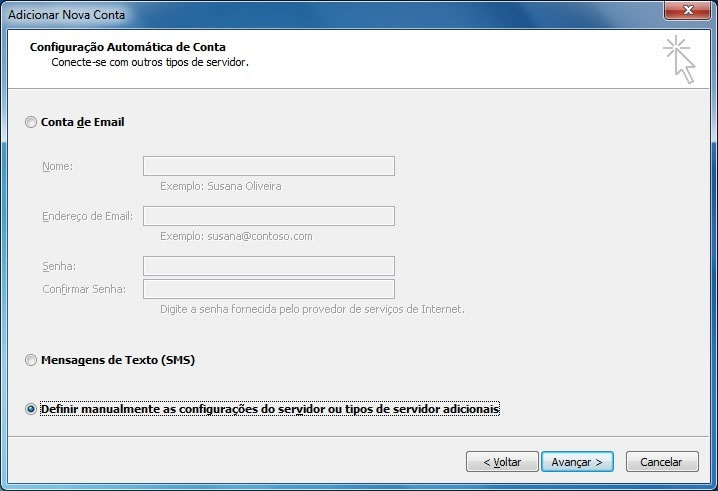 configuracao outlook office 2010