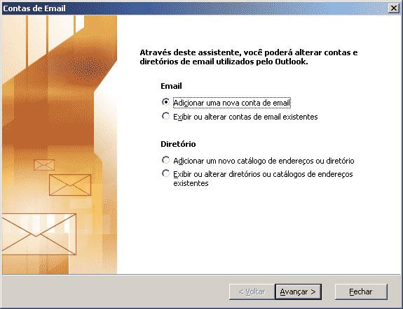 configuração outlook 2003