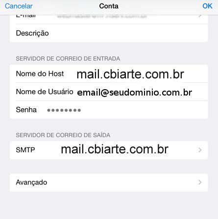 configurar e-mail no celular